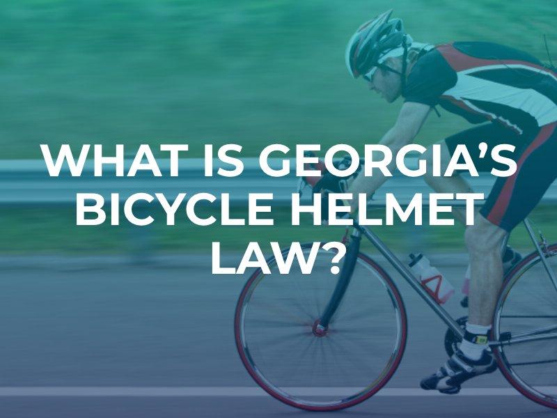 What Is Georgia's Bicycle Helmet Law?