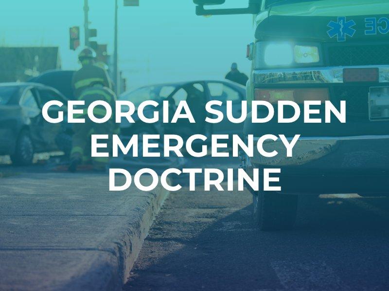 sudden emergency